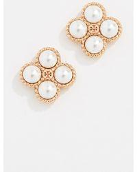 Tory Burch - Rope Clover Swarovski Crystal Pearl Stud Earrings - Lyst
