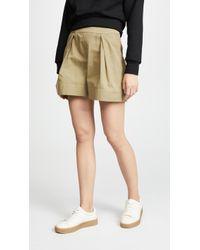 Twenty - Clark Canvas High Waist Shorts - Lyst
