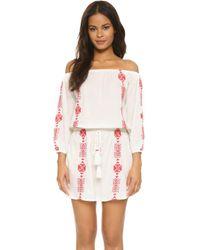 Pampelone - Bardot Mini Dress - Lyst
