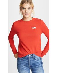Chinti & Parker - Twin Heart Badge Cashmere Sweater - Lyst