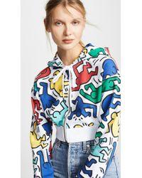 Alice + Olivia - X Keith Haring Barron Cropped Wide Sleeves Hoodie - Lyst