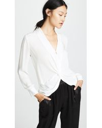 L'Agence - Mariposa Blouse - Lyst