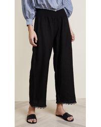 Three Dots | Linen Pom Pom Pants | Lyst