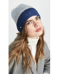 Kate Spade - Brushed Colorblock Beanie Hat - Lyst