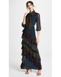 Alice + Olivia - Lessie Ruffle Maxi Dress - Lyst