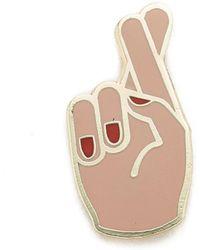 Georgia Perry - Fingers Crossed Pin - Lyst