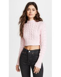 For Love & Lemons | Candy Cable Knit Jumper | Lyst