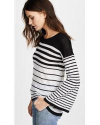 Autumn Cashmere - Ombre Stripe Sweater With Lantern Sleeves - Lyst