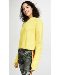 Pam & Gela - Cropped High Low Sweater - Lyst