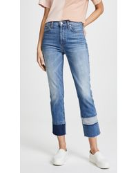 7 For All Mankind - Edie Fray Cuff Jeans - Lyst