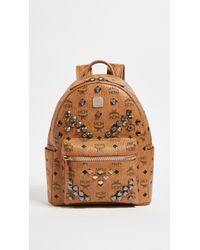 MCM - M Stud Small Stark Backpack - Lyst