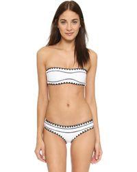 Same Swim - The Babe Bandeau Bikini Top - Lyst