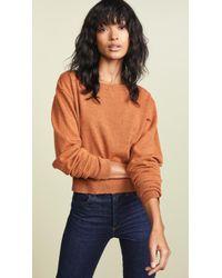 Autumn Cashmere - Crop Boatneck Cashmere Sweater - Lyst