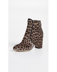 Charlotte Olympia - Leopard Booties - Lyst