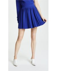 Brandon Maxwell - Pleated Miniskirt - Lyst