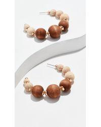 Shashi - Rio Hoop Earrings - Lyst