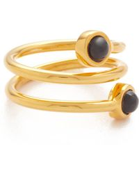 Lizzie Fortunato - Spiral Pinky Ring - Lyst