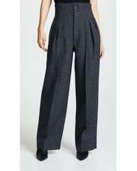 Marc Jacobs - Pleated Micro Check Trousers - Lyst