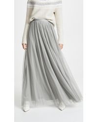 free shipping promotion special sales Needle & Thread Tulle Maxi Skirt in Gray - Lyst