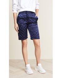 MSGM - Quilted Nylon Shorts - Lyst