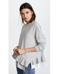 CLU | Ruffle Detailed Pullover | Lyst