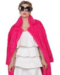 b03b5fdd47 BURU White Label - Pop Of Pink Faux Fur Coat - Lyst