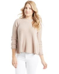 Rebecca Taylor - Ribbed Swing Pullover Sweater - Lyst
