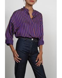 Creatures of Comfort - Monet Top In Striped Purple - Lyst