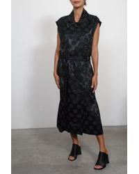 Creatures of Comfort - Graham Dress In Polka Dot Jacquard Black - Lyst