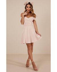 Showpo - Never Let Go Dress In Blush - Lyst