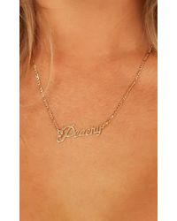Showpo - Crazy For You Necklace - Lyst