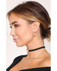 Showpo - Dont Know When 30mm Hoop Earrings In Gold - Lyst