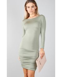Lyst greylin lua lace halter dress in natural showpo how to be single dress in khaki lyst ccuart Choice Image