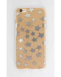 Showpo | Estela Iphone Cover In Gold Glitter - 6 Plus | Lyst