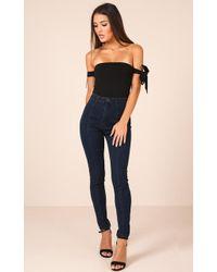 Showpo - Lorna Skinny Jeans In Dark Wash Denim - Lyst