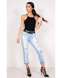 Showpo - Just How It Is Jeans In Light Wash - Lyst