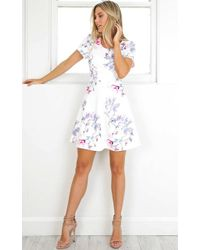 Showpo - Lose My Breath Dress In White Floral - Lyst