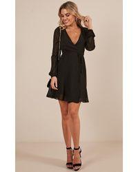 Showpo - Across The Atlantic Dress In Black - Lyst