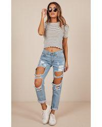 Showpo - Django Boyfriend Jeans In Blue - Lyst