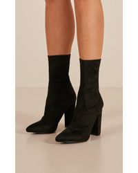 Showpo - Billini - Octavia In Black Suede - Lyst