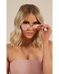 Showpo - Glowing Sunglasses In Rose Gold - Lyst