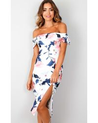 Showpo - Take Me To Paradise Dress In White Floral - Lyst
