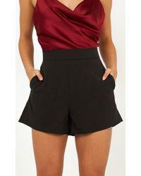Showpo - Passenger Shorts In Black - Lyst