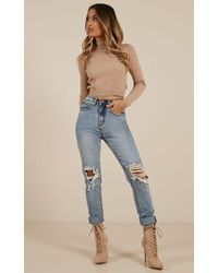Showpo - Kimberly Mum Jeans - Lyst