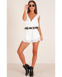 Showpo - Pretty And Free Playsuit In White - Lyst