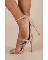 Showpo Billini - Della In Nude Suede - Natural