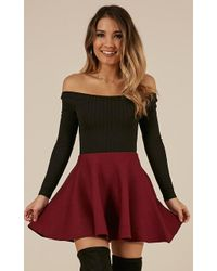 Showpo - Real Deal Skirt In Wine - Lyst