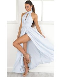 Showpo | Twilight Star Maxi Dress In Pale Blue | Lyst