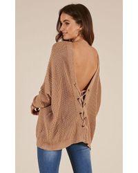 Showpo - Own It Knit Sweater - Lyst