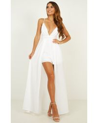 Showpo Return To Reality Maxi Playsuit